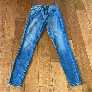 7 For All Mankind high waisted ankle blue jeans